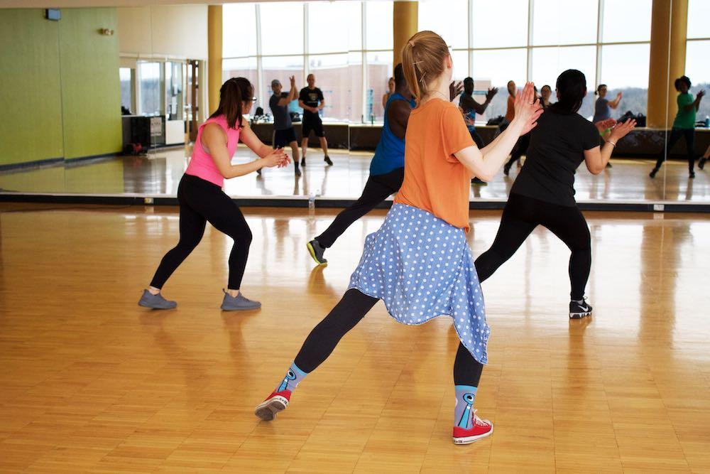 People dancing in studio